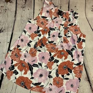 Sleeveless Floral Top Ann Taylor Factory